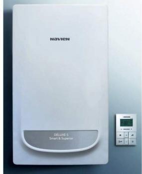Котел газовый настенный Navien Deluxe S – 20 кВт (двухконтурный, закрытая камера)