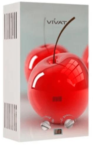 Проточный газовый водонагреватель VIVAT JSQ 20-10 NG вишня