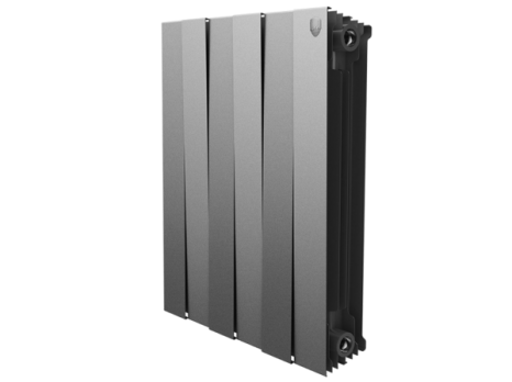 Радиатор биметаллический Royal Thermo PianoForte Silver Satin 500 x12
